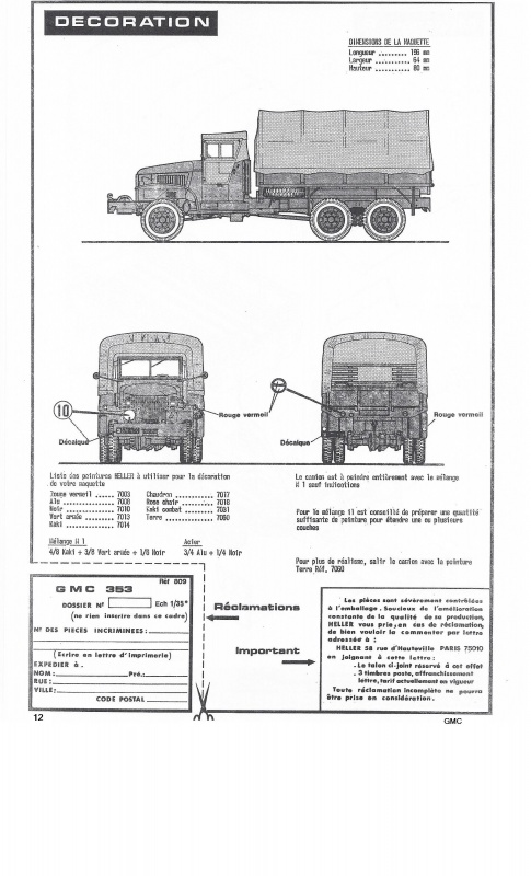 GMC . CCKW 353 (Réf. L809) 1/35 718882GMC012