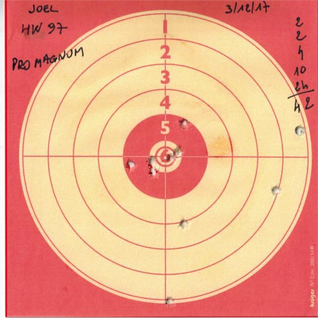 Tests plombs avec carabine Weihrauch HW97 BL 718924HW97GAMOPROMAGNUM