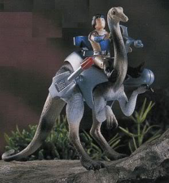 Les jouets DINO-RIDERS ( dinoriders ) - IDEAL 719722Struthiomimus1