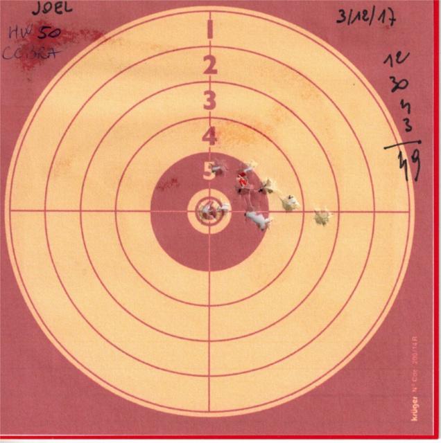 weihrauch - Tests plombs avec carabine Weihrauch HW50S 722126HW50UMAREXCOBRA