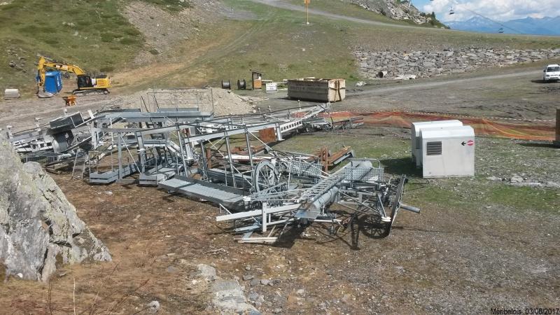 Construction du télésiège débrayable 6 places (TSD6) Roc de Tougne 72826820170603104737