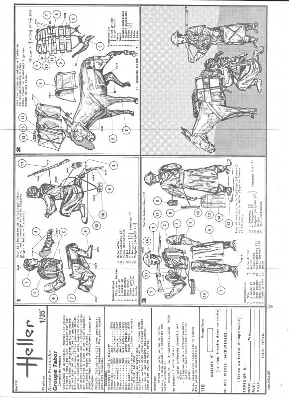 Groupe de Combat Français (réf.116) Groupe Tabor 1/35 731362Heller116135GroupeTabor002