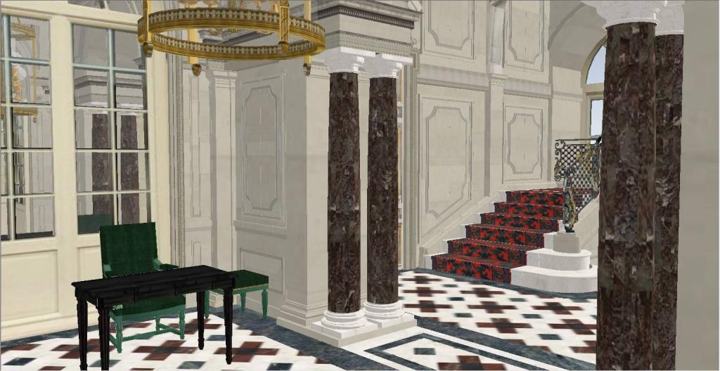 Reconstitution virtuelle du Palais des Tuileries, états Premier Empire et Second Empire - Page 2 7380695portiquedaccslescalier