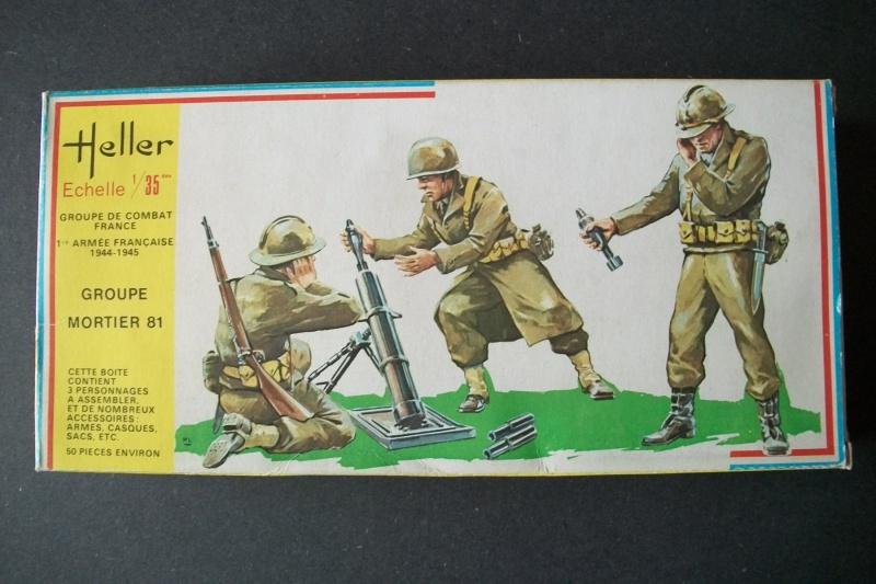 Groupe de Combat Français (réf.115) Groupe Mortier 81 1/35 740647Heller115135001GroupedeCombatFranceGroupeMortier81