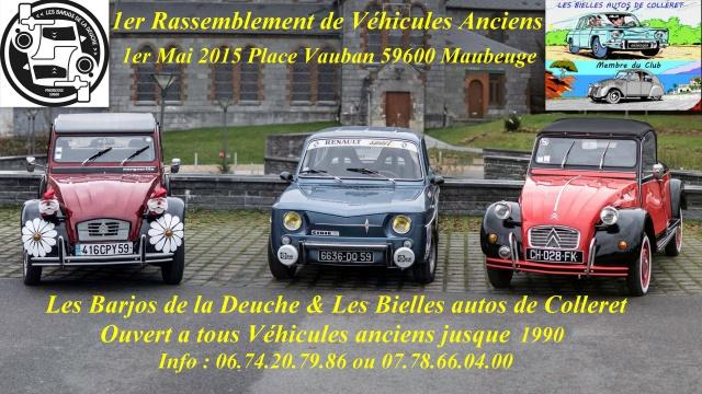 1er Rassemblement de Vehicules Historiques a Maubeuge  743460Affiche1Mai