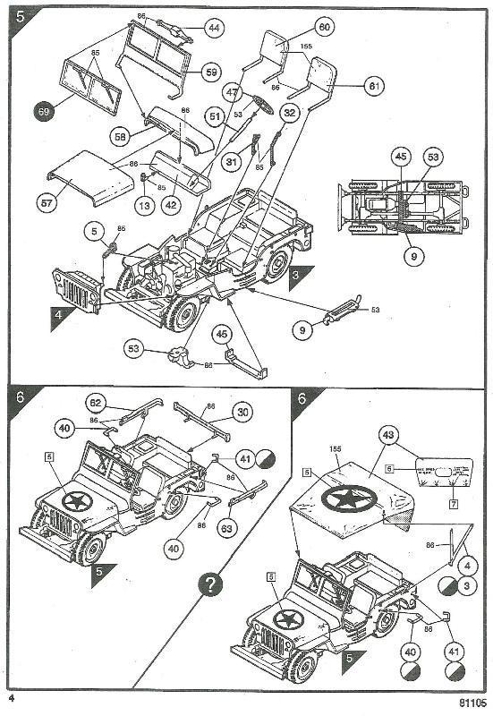 jeep indochine - Jeep Willys +Trailer Heller 1/35 744215JeepHeller135004