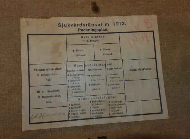 Sac à dos Suédois d'infirmier mle 1912 747539DSC2895