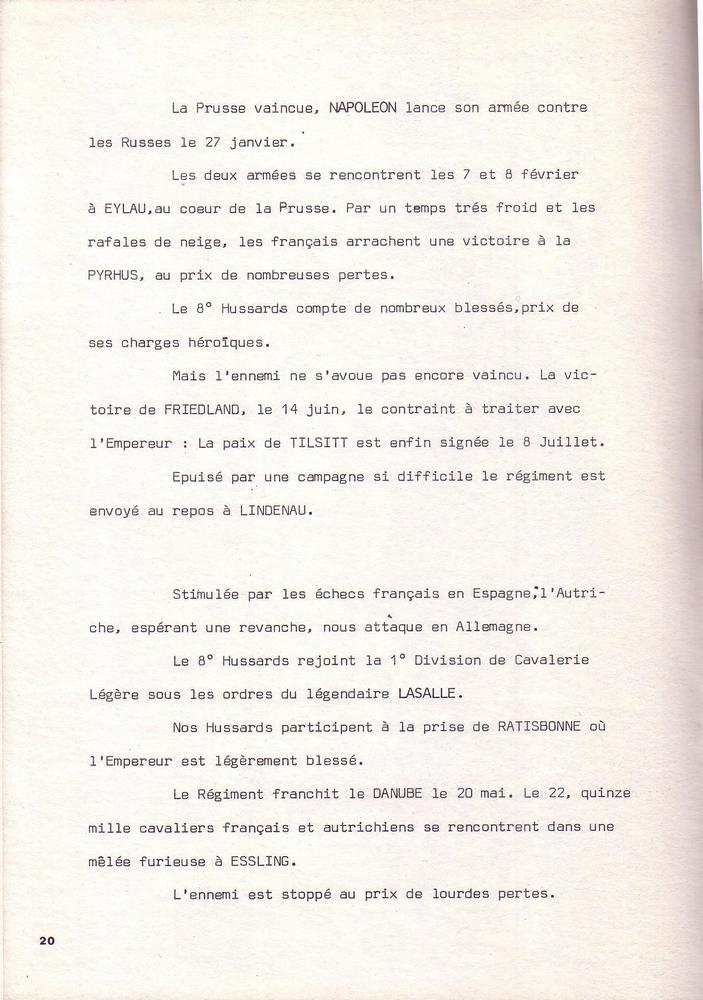 L'épopée Napoléonienne du 8 ème Régiment de Hussards  749184Historique8RHN20