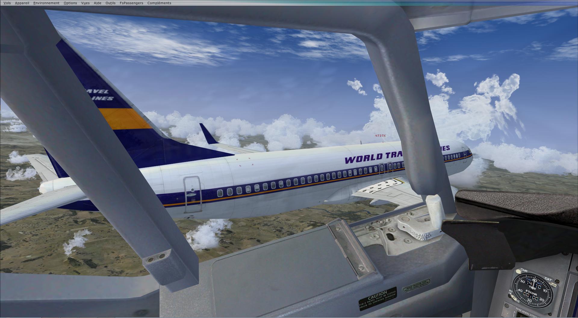 rapport du vol en formation en  737 de LEMD -----LFBG 75225520141119205515209