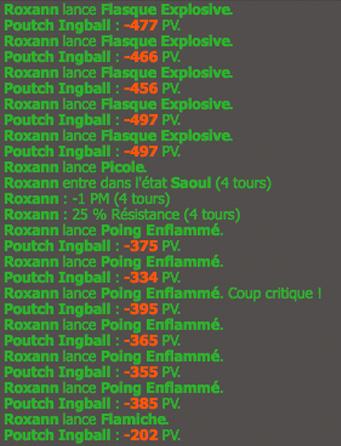 Roxann, Niveau 200 sur Pouchecot 752397degats
