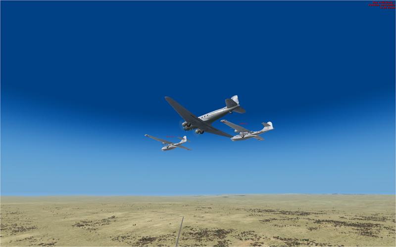 Vol en formation en Afrique (DC3) 7556342013222223030826