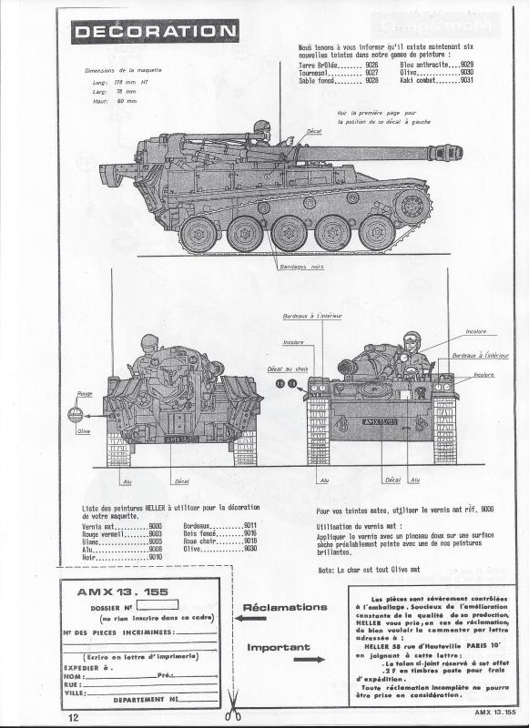 AMX 13 canon de 155 - (Réf. L782) 1/35 755954AMX13155782013Heller135