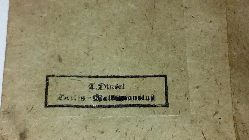 Paperasse panzerfaust,SA,sachet medaille 758753IMG20160121183048