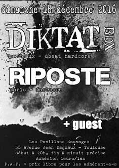 [Toulouse - 18-12-2016] DIKTAT + RIPOSTE + guest 759480affiche18121620ko
