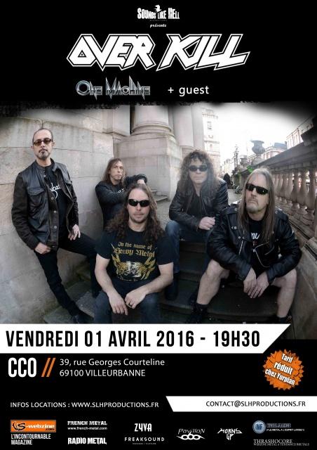 01.04 OVERKILL + ONE MACHINE @ Lyon (CCO) 761241OverkillLyon