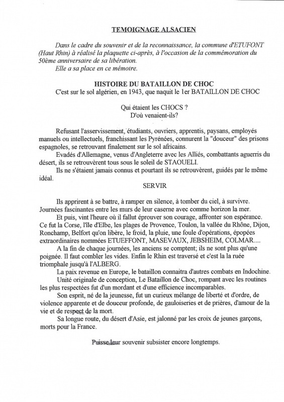 Le 1er Bataillon de Choc à STAOUELI en 1943  par Maurice DOUET (2002) 764330383
