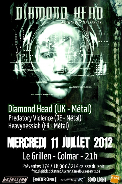 DIAMOND HEAD + PREDATORY VIOLENCE + HEAVYNESSIAH @ Le Grillen (Colmar) 764945Flyer
