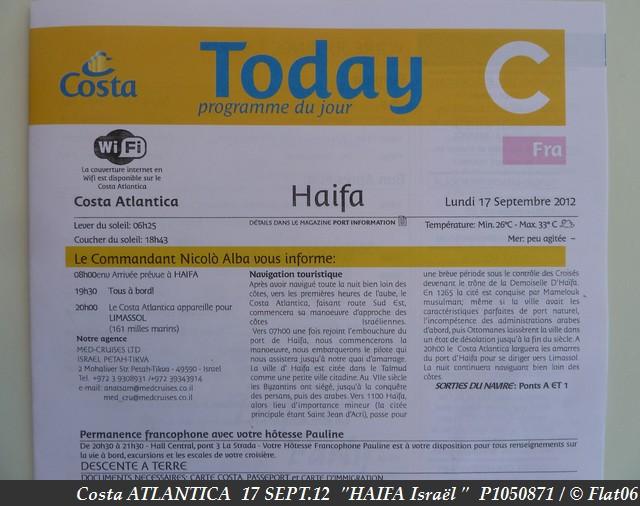 Z06 - COSTA / C/R  Mer Egée et Galilée / Grèce, Crête, Israël, Chypre, Turquie !  13-20/09/2012  766397P1050871
