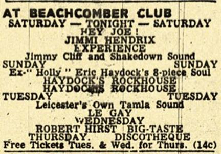 Nottingham (Beachcomber Club) : 14 janvier 1967 776024929n
