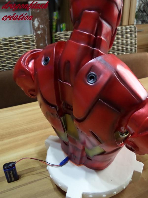 dragonflash création : buste iron man 1/2  (+-40 cm de haut) le final 7806919730