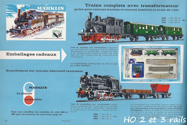 Coffrets Märklin 1936 - 1968 (rouges, noirs, verts ou bleus) 783424Marklincatalogue19671R