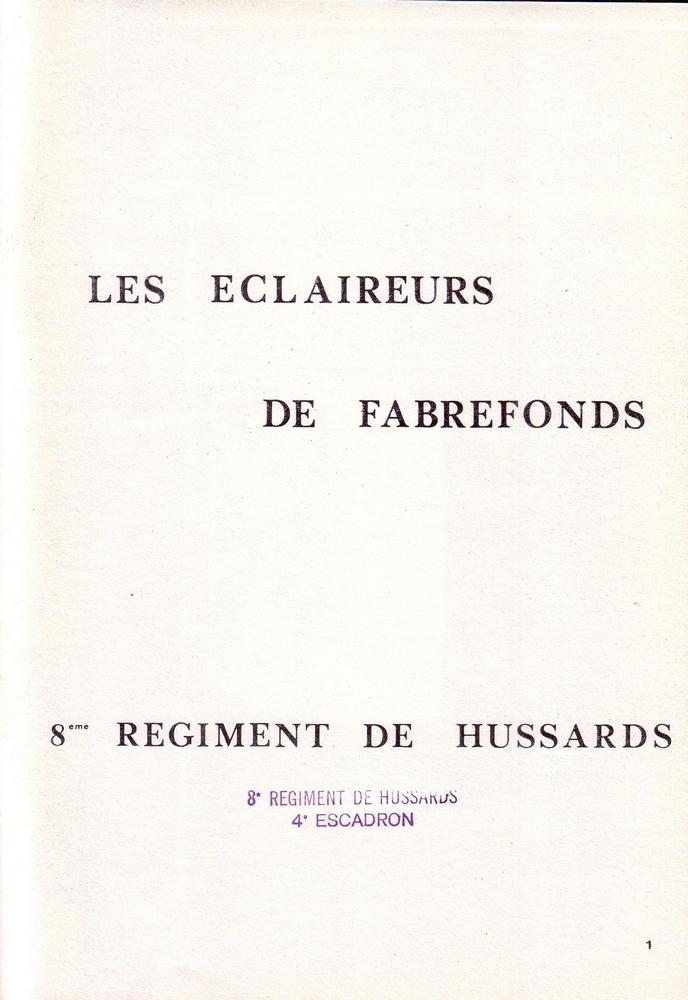L'épopée Napoléonienne du 8 ème Régiment de Hussards  784738Historique8RHN01