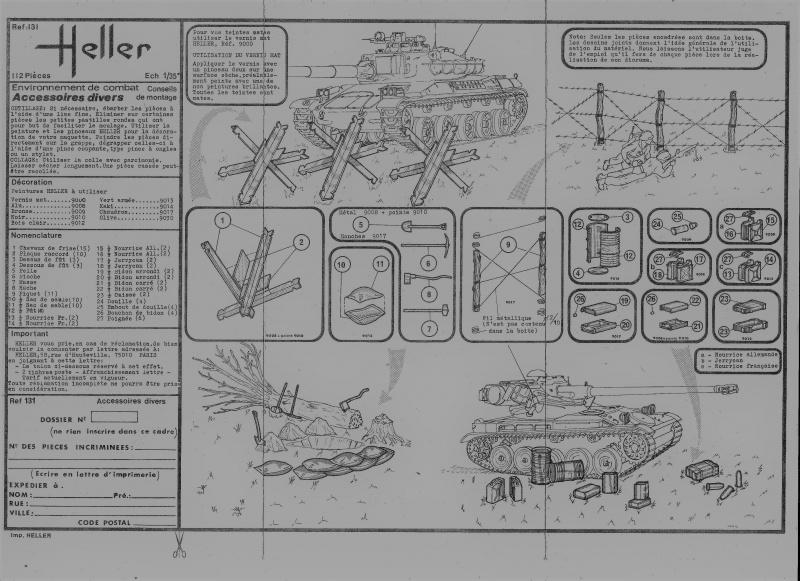 Equipement de Combat (Réf.131) Accessoires Divers 1/35 785157Heller131EDCAccessoiresDivers002