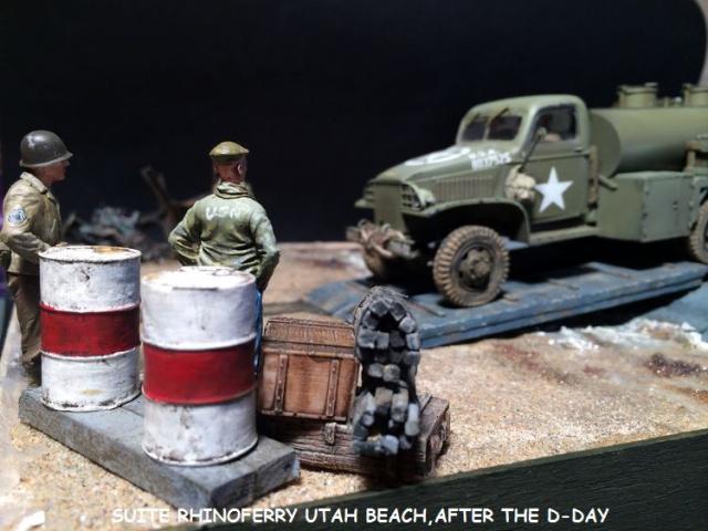 Rhinoferry D12 plage du débarquement Normandie (Hobby Boss, AFV, Italeri, 1/35) - Page 3 786181laderdesders012