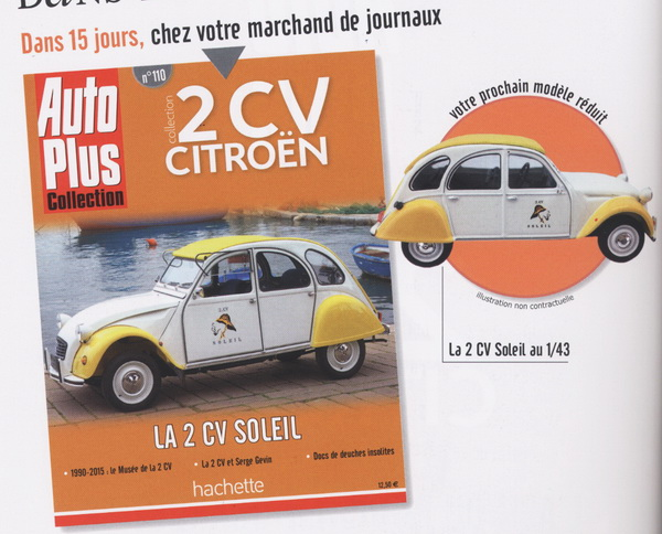 2011 - Hachette Collections + AUTO PLUS > Collection 2 CV CITROËN 788802201512031814360022