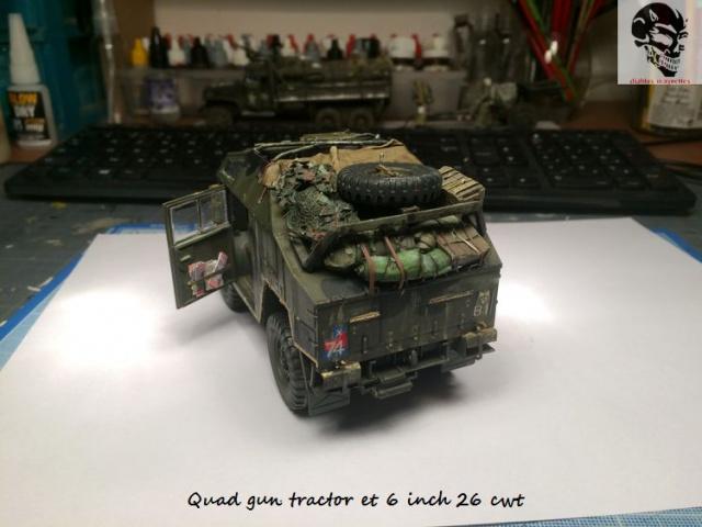 Quad gun tractor et 6 inch 26 CWT en Normandie 1/35 788828IMG4831