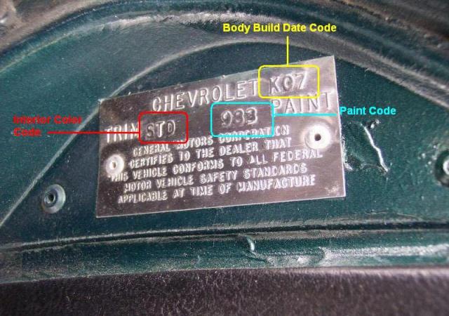 chevrolet corvette 25 th anniversary de 1978 au 1/16 - Page 2 79027269TRIMTAG