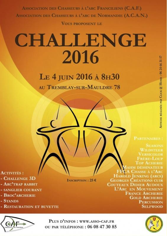 Challenge annuel de tir à l'arc - Tremblay Sur Mauldre (78) 791297ChallengeCAFACAN2016