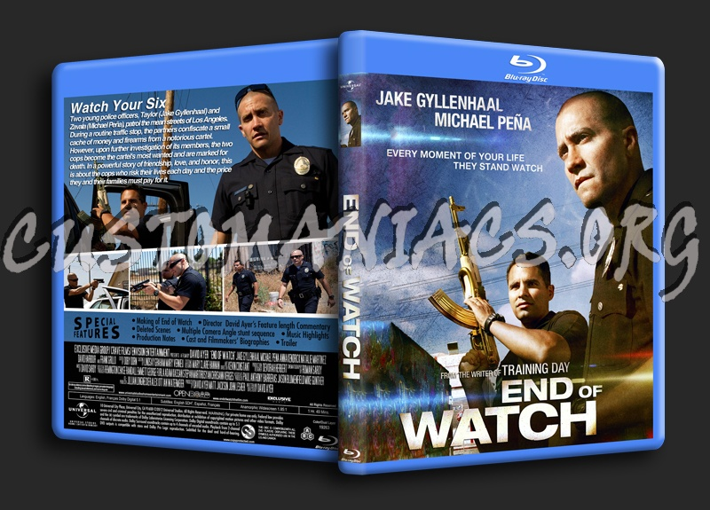 End of Watch  792351715159d1353758797endwatchendwatch11mmbluraycovermini