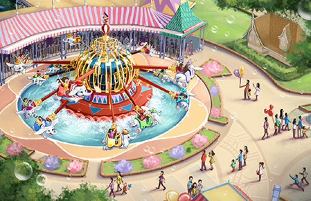 [Shanghai Disneyland] GARDENS OF IMAGINATION (Fantasia Carousel/Dumbo/Mickey/Marvel/Golden Fanfare/Parade) 794473SD11