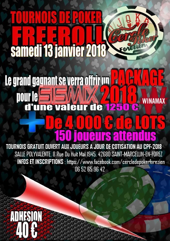 TOURNOIS du Cercle de Poker Forézien 13.01.2018 794511AfficheCPF3