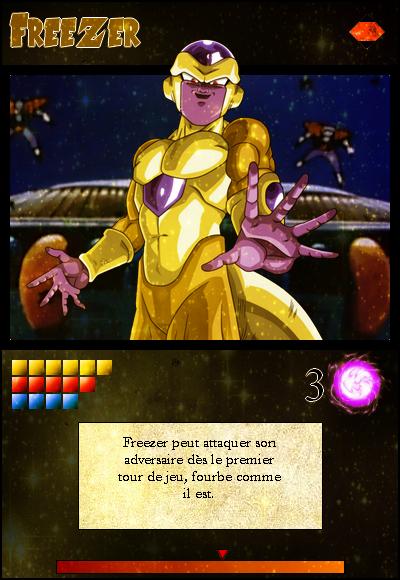 Jeu de cartes RPGDBZ 797602FreezergoldencarteN38