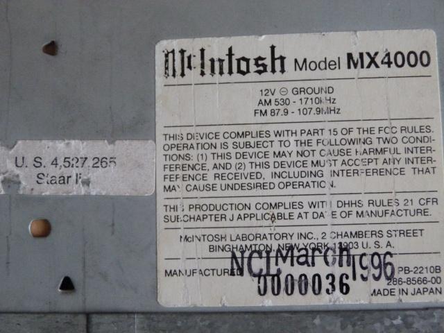 McIntosh MX4000, l'Excellence.... 806973P1080051