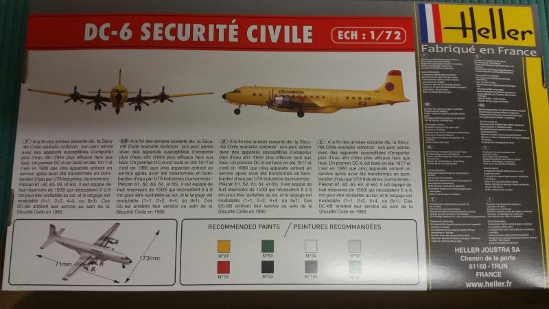 DOUGLAS DC-6B SECURITE CIVILE maquette HELLER au 1/72° 81145320171126125932