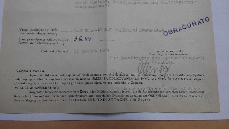 """Document SS 6./pol-frw.rgt.1""""kroatien""""  813392IMG20151228145301"""