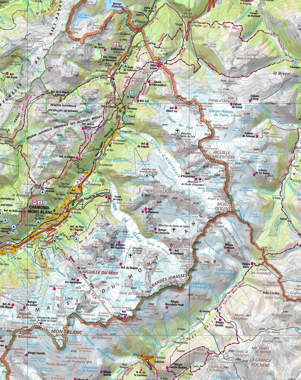 le Mont Blanc vu d'en haut 817720cartedesALPES