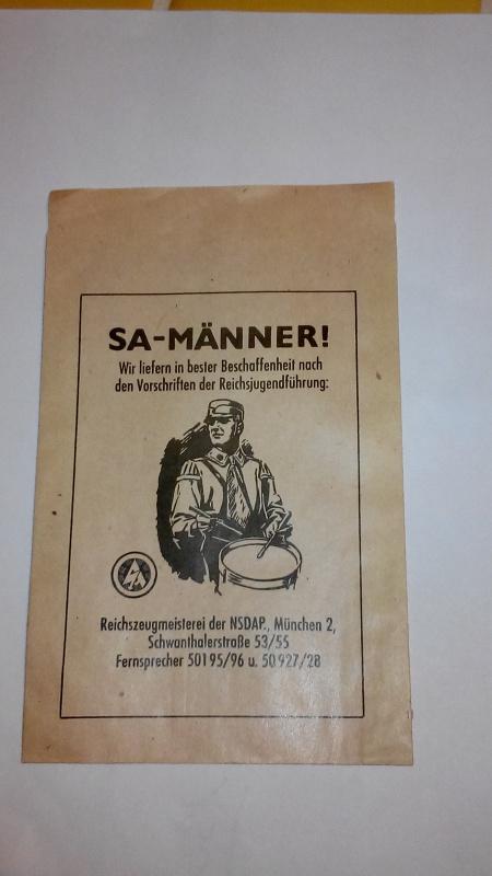Paperasse panzerfaust,SA,sachet medaille 817897IMG20160121182601