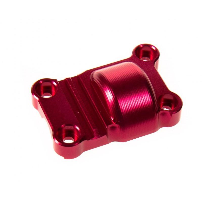 GPM Racing propose des pièces en aluminium / bielette de servo / pignon moteur 820433gpmcouvercletransmissionarrierealurougetxm038mr
