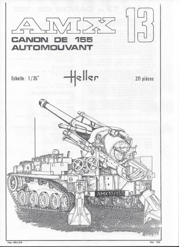 AMX 13 canon de 155 - (Réf. L782) 1/35 823382AMX13155782002Heller135