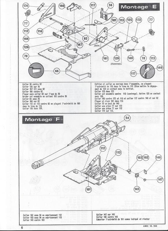 AMX 13 canon de 155 - (Réf. L782) 1/35 823407AMX13155782007Heller135
