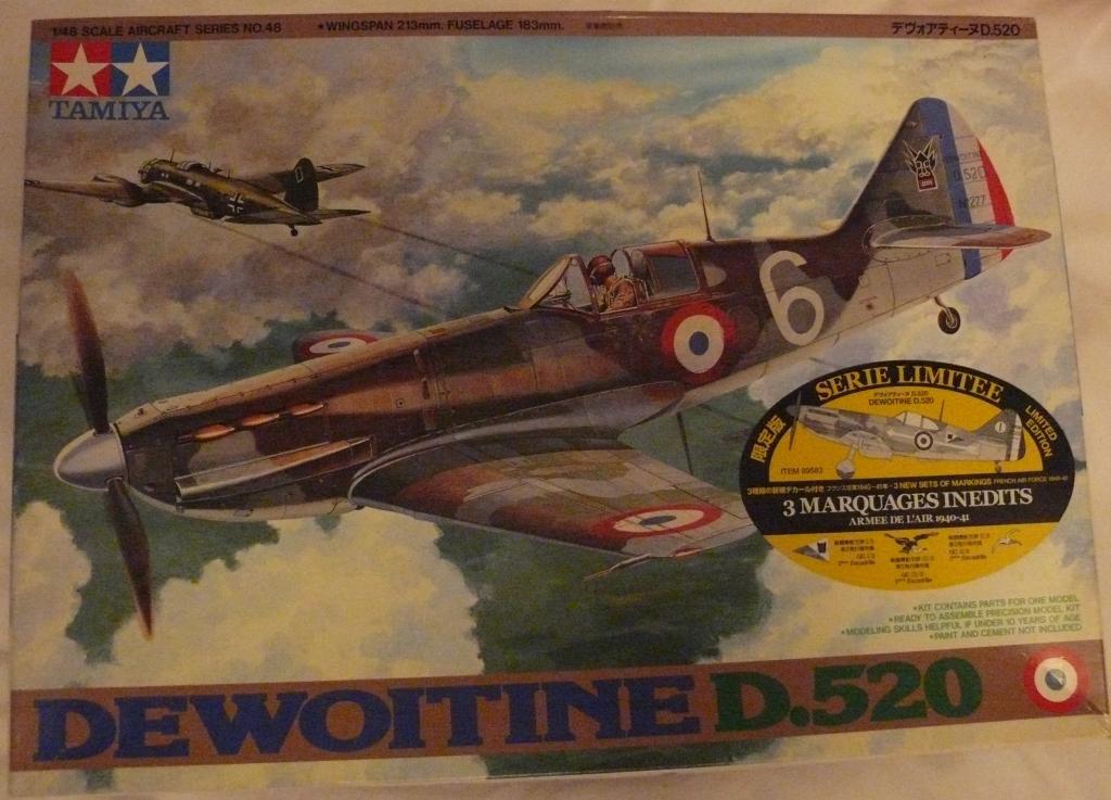 Dewoitine D.520 édition spéciale 1/48 Tamiya 828169D52001