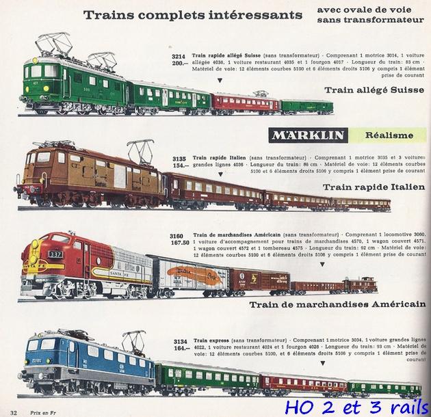 Coffrets Märklin 1936 - 1968 (rouges, noirs, verts ou bleus) 828943Marklincatalogue19643R