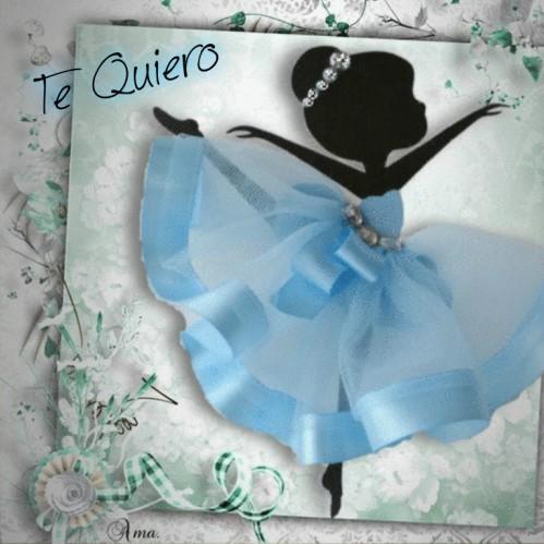 Bailarina con Tutú Celeste  830327tequiero