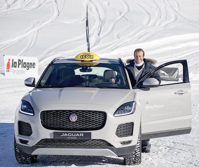 Alix Bénézech Coachée Par Anthony Beltoise inaugure la Jaguar Fun Zone à la Plagne A Bord De La Jaguar E-PACE Et La F-TYPE SVR 837435portraitbeltoiseepace