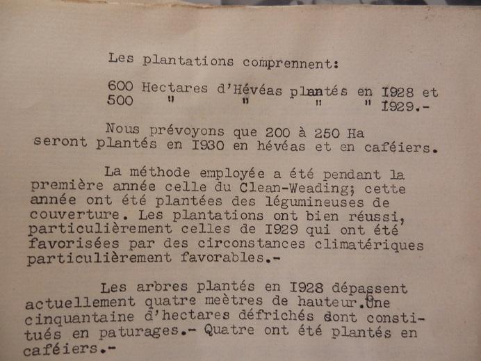 Mines d'Indochine, plantation de tabacs et d'hévéas ..... 841210P8120032