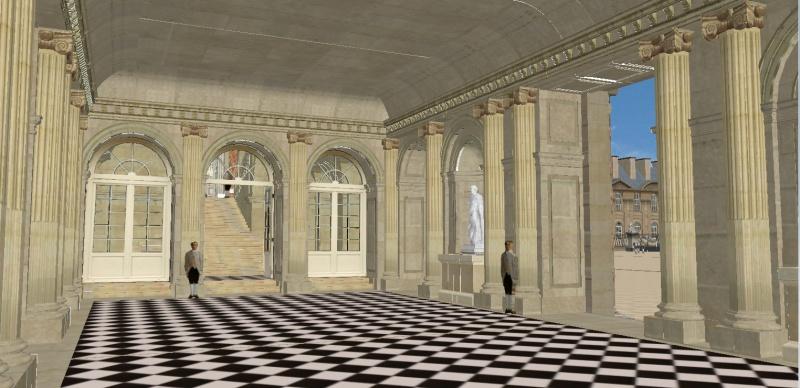 Reconstitution virtuelle du Palais des Tuileries, états Premier Empire et Second Empire 842573vestibule7